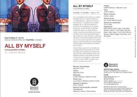 ESAD presenta ALL BY MYSELF d'Alejandro Curiel
