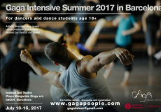 Gaga Intensive Summer 2017 Barcelona